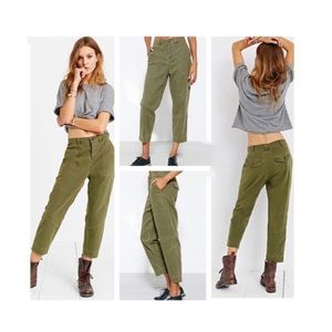 BDG Urban Outfitters Uniform Trouser Pant Army Grn